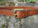 Lined and Stitched Belt