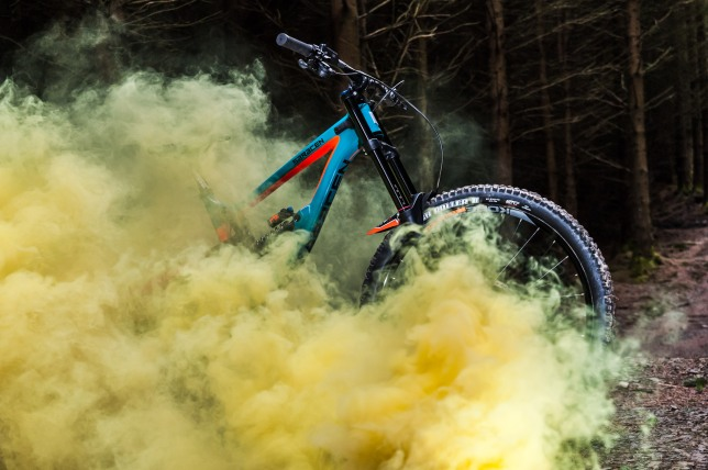 Yellow smoke suited the bike the best